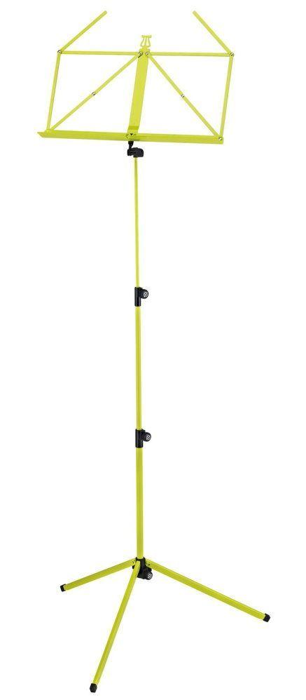 K&M 10010 Notenpult gelbgrün , Höhe 625 - 1240 mm, zusammengelegt 460mm  100/1