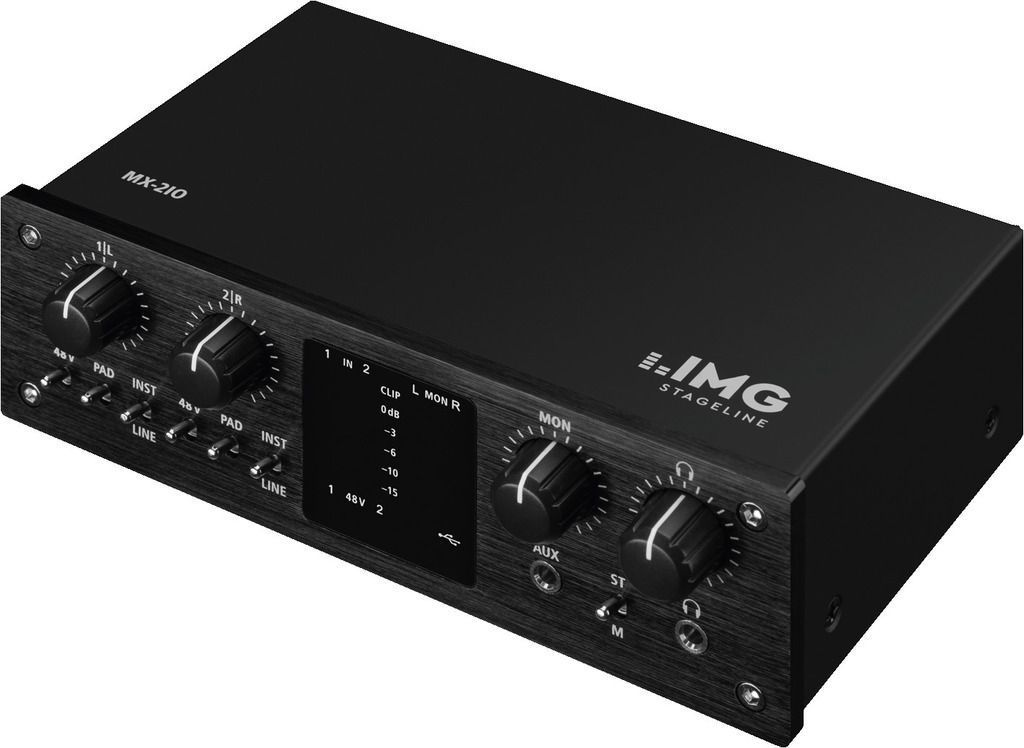 IMG Stage Line MX-2IO USB-Audio-Interface  2-Kanal-USB-Recording-Interface  NEU