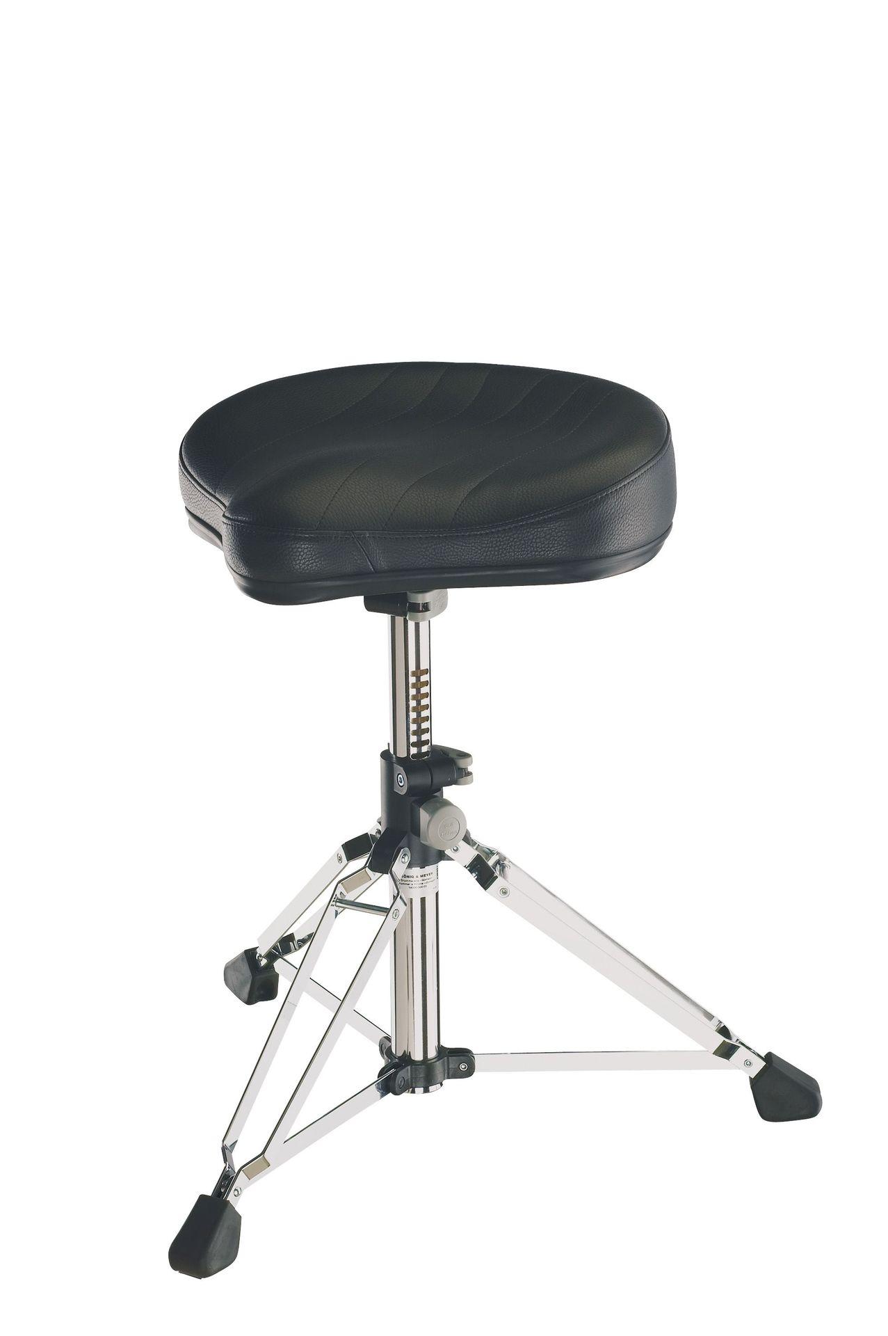 """K&M 14000 """"Gomezz"""" Drumhocker große Sitzfläche Leder Sattel sehr stabil"""