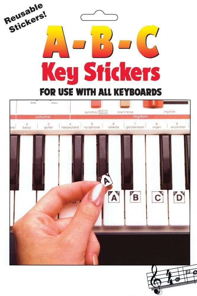 Noten ABC Keyboard Stickers Notenaufkleber Hal Leonard 1009