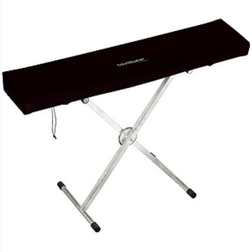 Soundwear Elastische Keyboard Abdeckhaube, 61 Tasten, 85 - 102 cm, schwarz