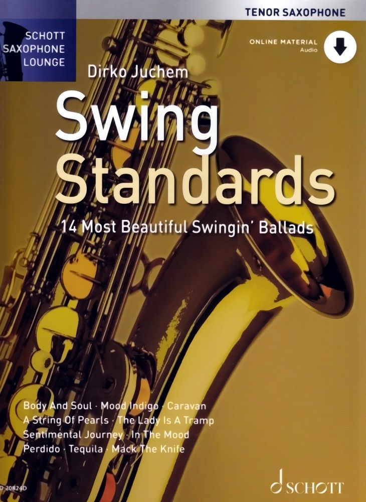 Noten SWING STANDARDS Juchem Dirko audio download Code ED 20824D Tenorsaxophon