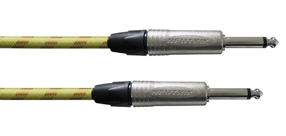 Cordial CXI 6 PP-TWEED Gitarrenkabel 6,3mm Klinke/Klinke Neutrik, Mono, 6 Meter