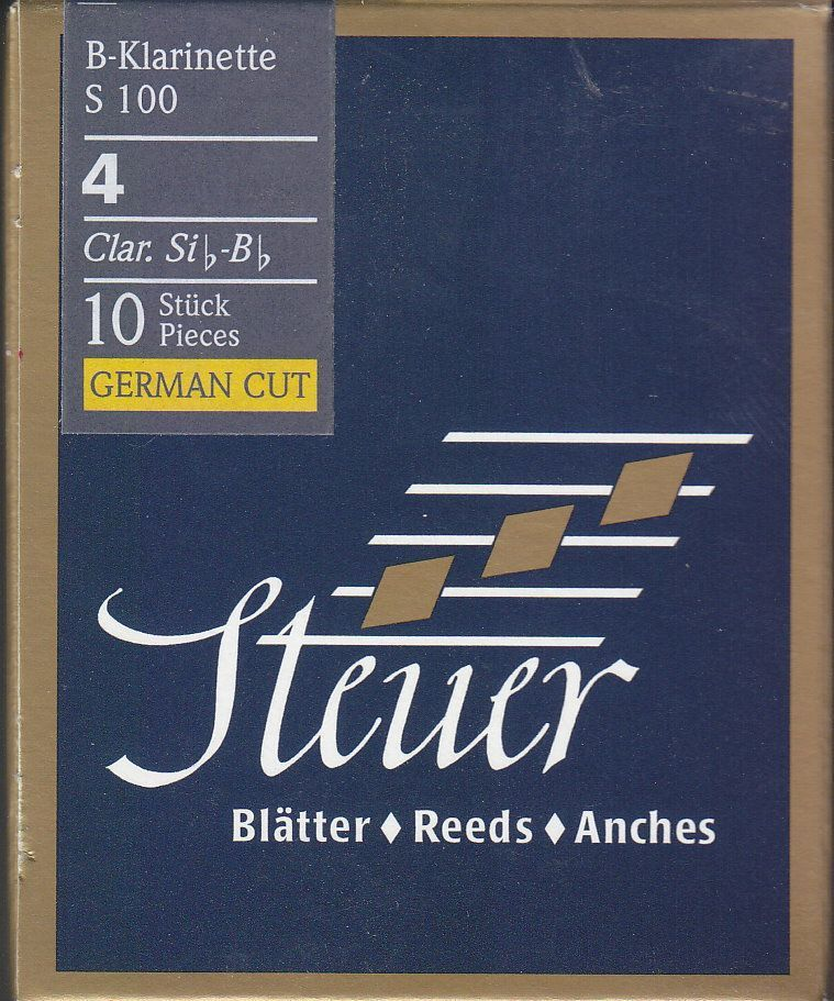 Steuer Blatt S-100 B-Klarinette deutsch 4,0 Blue Line