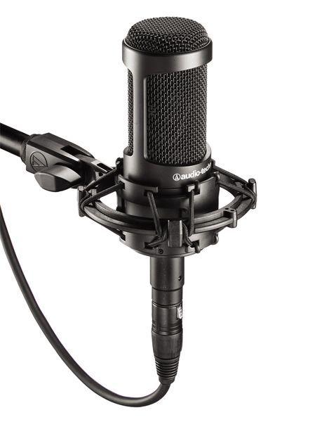 Audio Technica AT 2035 Studio Mikrofon, Großmembranmikrofon mit Spinne, Niere