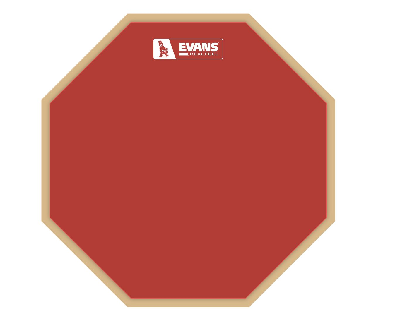 """Evans Reelfeel Practice Pad 12"""" RF12G in roter Ausführung - Limited Edition"""