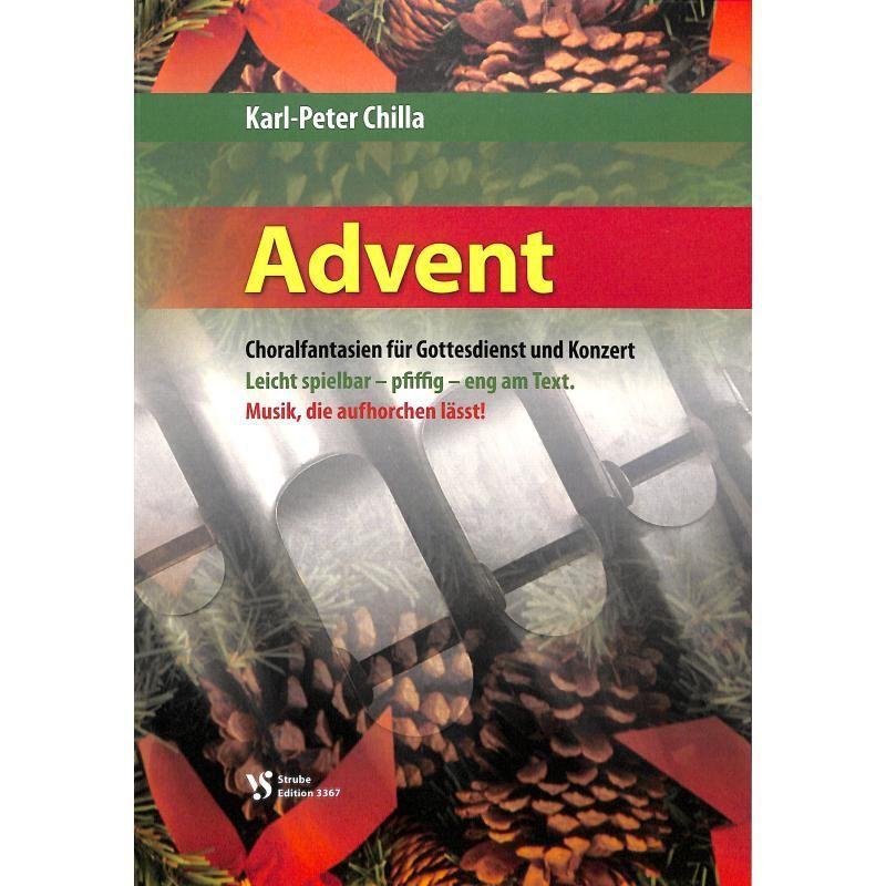 Noten Advent Choralfantasien für Gottesdienst und Konzert VS 3367 Strube Orgel