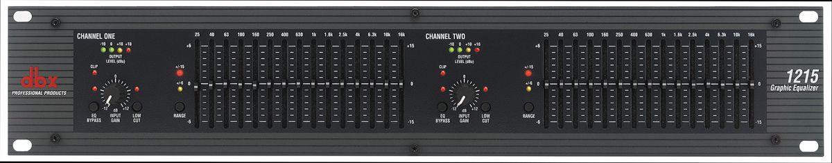 dBX 1215 Dual Equalizer Stereo Graphic EQ
