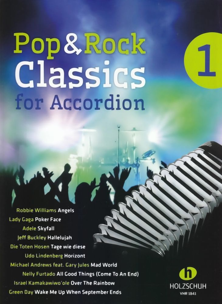 Noten Pop & Rock classics 1  Holzschuh VHR 1841 für Akkordeon Waldemar Lang
