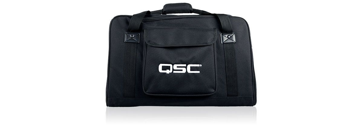 QSC CP12 Tote Bag Farbe: schwarz mit QSC Logo, Gigbag für CP12