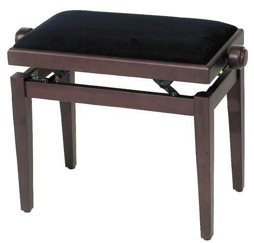 Klavierbank Rosenholz matt, höhenverstellbar, Sitz Stoff schwarz. Pianobank