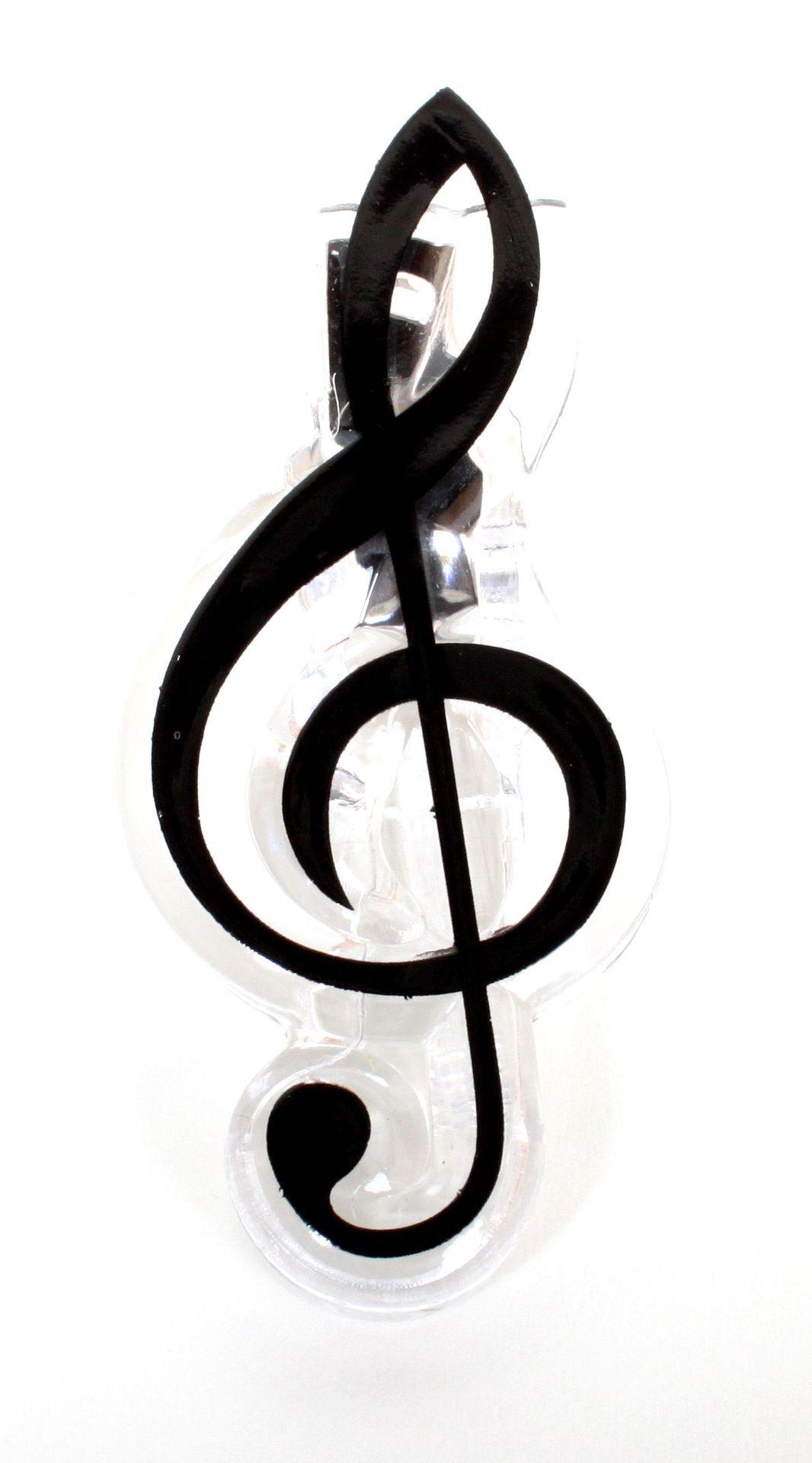 Notenklammer Violinschlüssel  ca. 7 cm groß Noten Clip