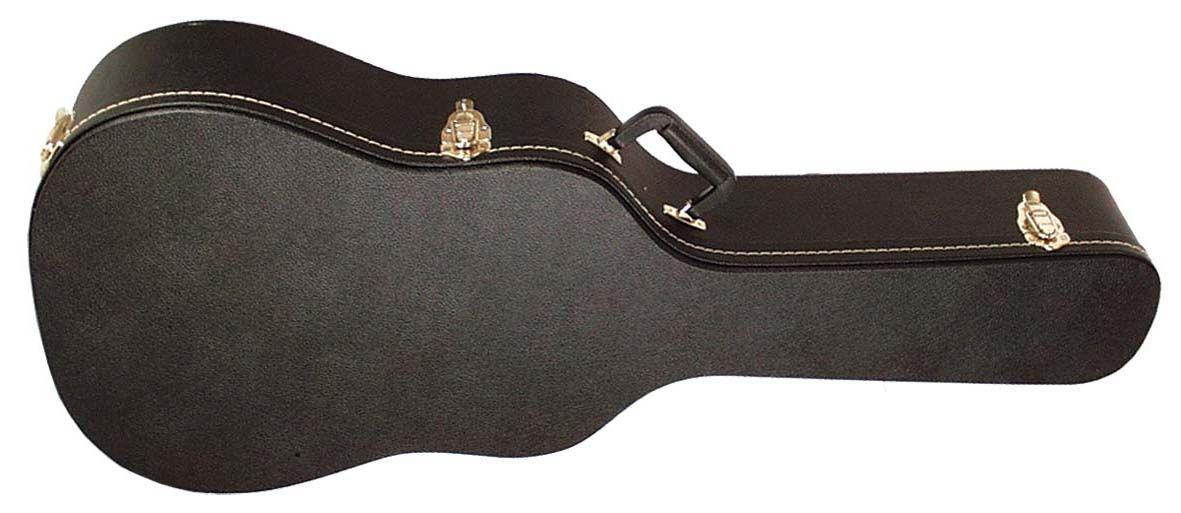 Gitarrenkoffer für Jumbo, Westerngitarrenkoffer, Holzkern, schwarz