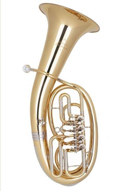 Miraphone 54-L B-Bariton Goldmessing 54L 1100A,  4 Ventile