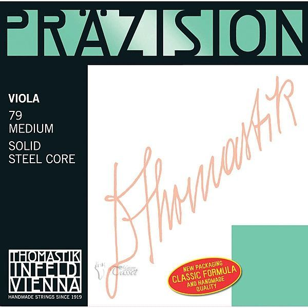 """Thomastik Viola """"Präzision"""" mittel  Satz 79 (70,72,73,75) Stahl Vollkern"""