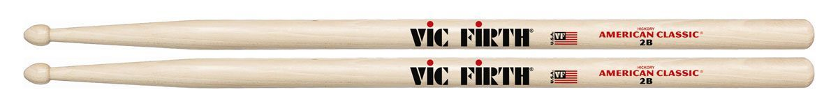 VIC FIRTH 2B Drumsticks American Classic Serie Hickory