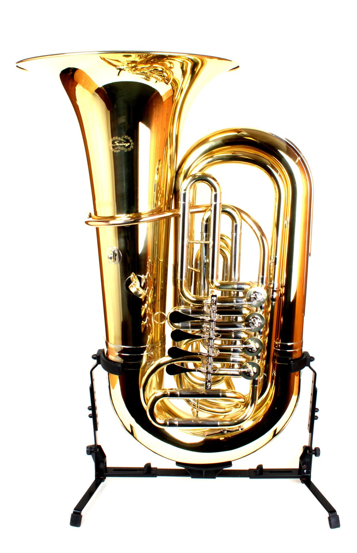 SWING Tuba TU-205, Bb-Tuba 4 Ventile, 19,00 mm Bohrung, 45cm Schallstück,Länge