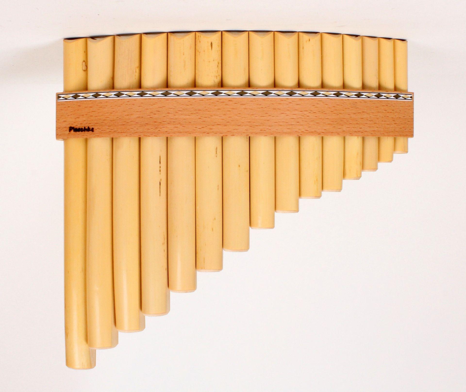 Plaschke R15 B Panflöte Bb-Dur / 15 Rohre Schilf, elektronisch gestimmt