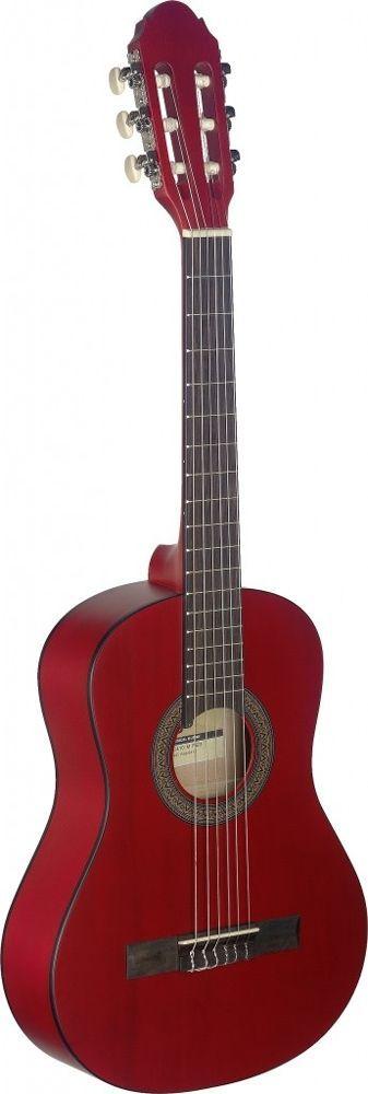 Stagg C-410 M Red Konzertgitarre, 1/2-Größen rot matt