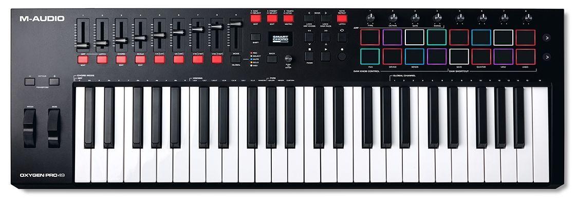 M-Audio OXYGEN PRO 49  USB/MIDI Controller Keyboard mit 8 Triggerpads