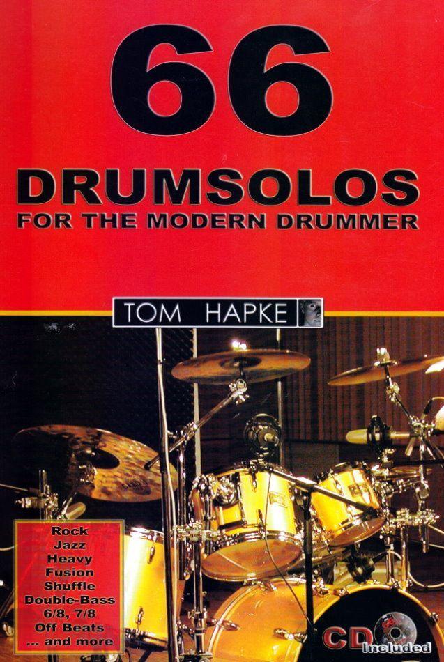 Schule 66 Drumsolos  for the modern Drummer Tom Hapke BoE 7019