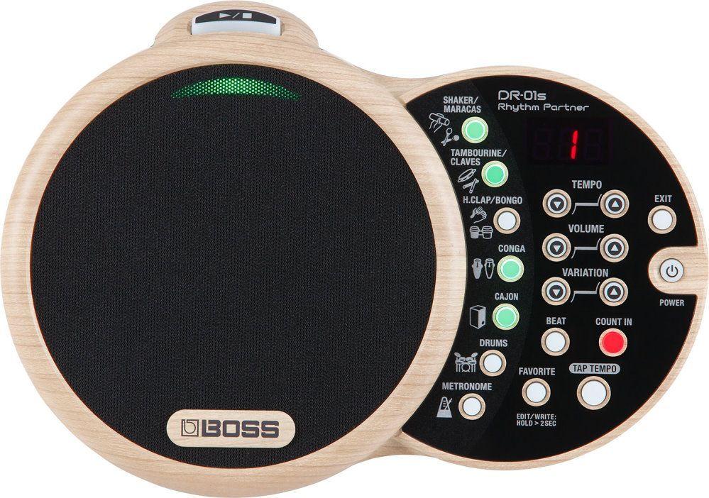 Boss DR-01S Rhytm Partner Drumcomputer,  DR01S mit Lautsprecher und 18 Sounds