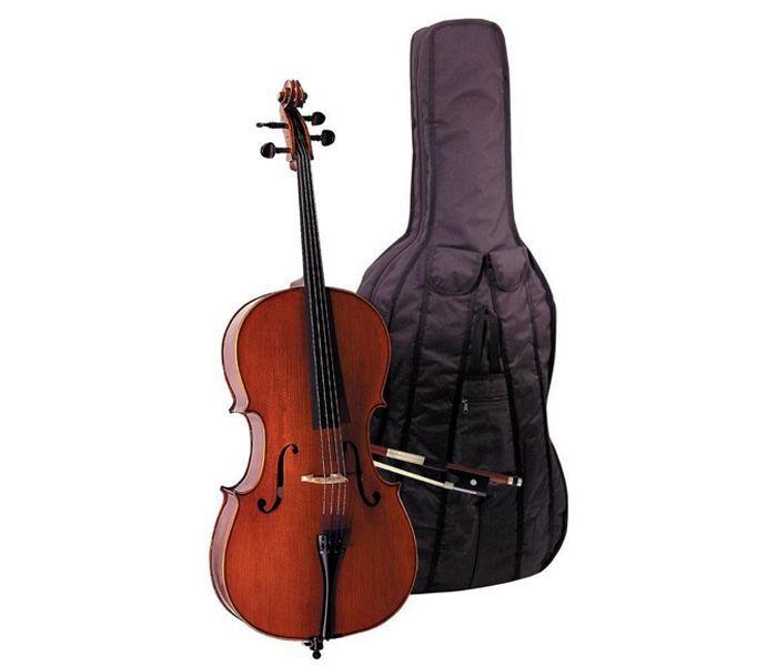 """O.M.Mönnich 1/2 Cello Set EW incl. Bogen und Gigbag """"B-Ware !"""