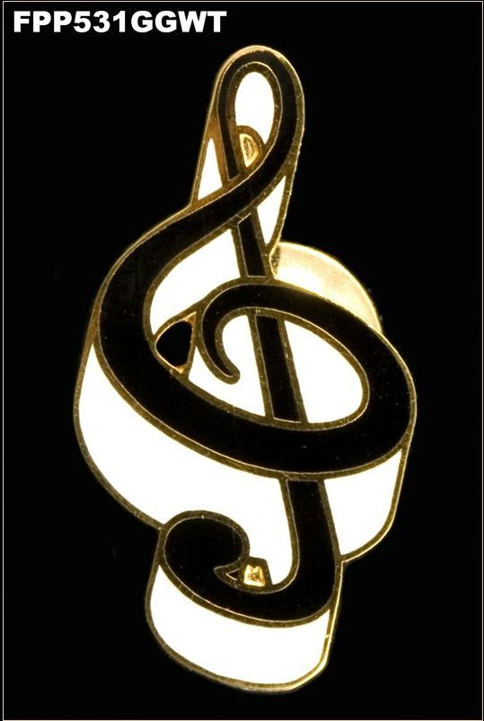 Anstecker Notenschlüssel Violinschlüssel FP-Schmuck #531 Musikergeschenke