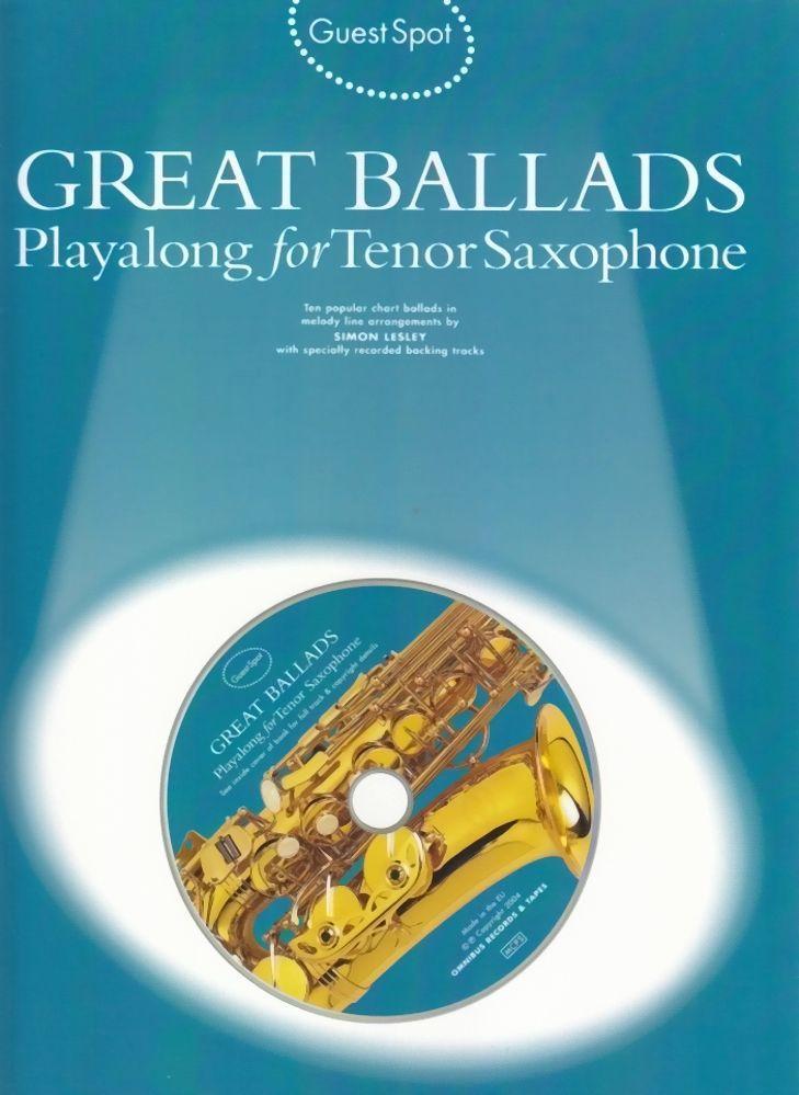 Noten BALLADS - PLAYALONG Tenorsaxophon incl. CD Music sales MSAM 978901