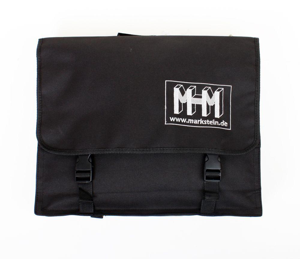 Markstein Notentasche schwarz 40 x 30 x 10 cm,  Notenbag, Nylon, Rucksackgurte