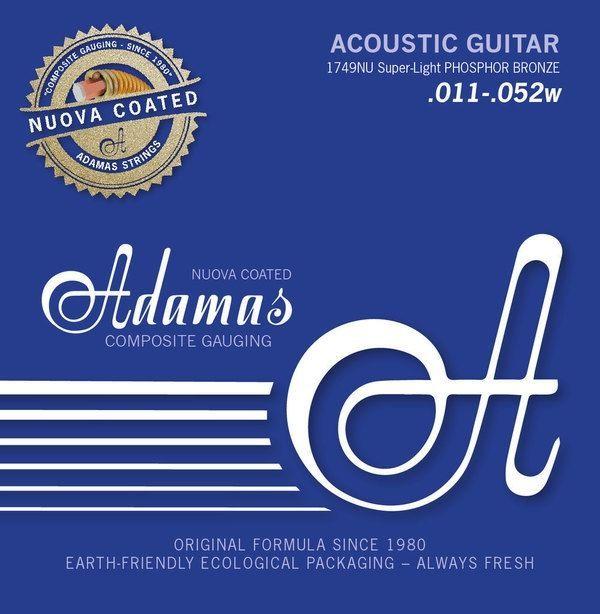 Adamas 1749NU Nuova Coated 6 String 011-.052 Super Light