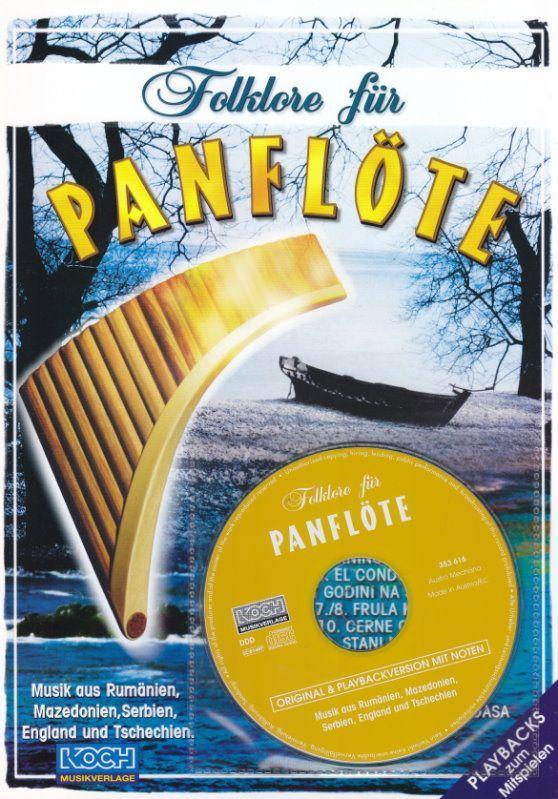 Noten Folklore für Panflöte incl. CD 10 bekannte Titel Koch Verlag 023549