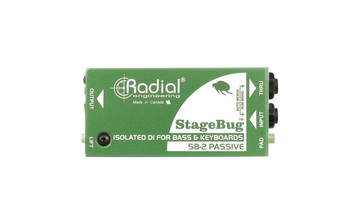 Radial Engineering SB-2 passive DI-Box mit Stereo-zu-Mono-Merge-Funktion