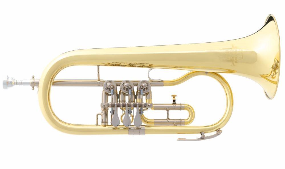 B&S 17/2-L B-Konzert-Flügelhorn - Modell mit Trigger-incl.Etui und Zubehör