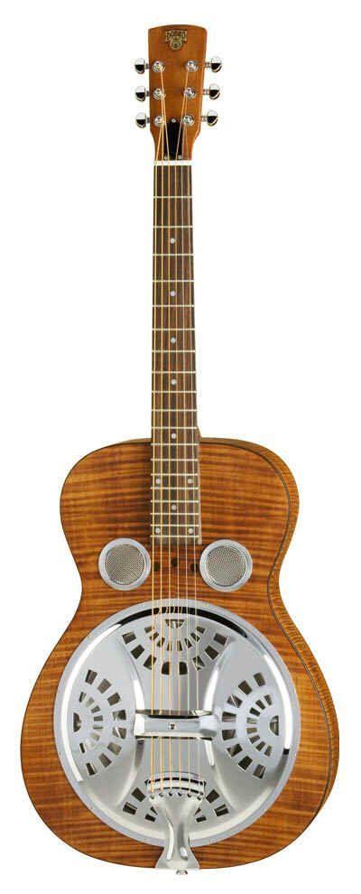 Dobro Hound Dog Deluxe Round N, Acousticguitar mit Piezzo-PickUp, natur matt