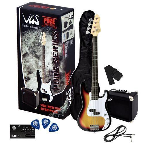 VGS RCB-100 SB E-Bass Pack Einsteigerpaket mit Bass sunburst, Amp + Zubehör