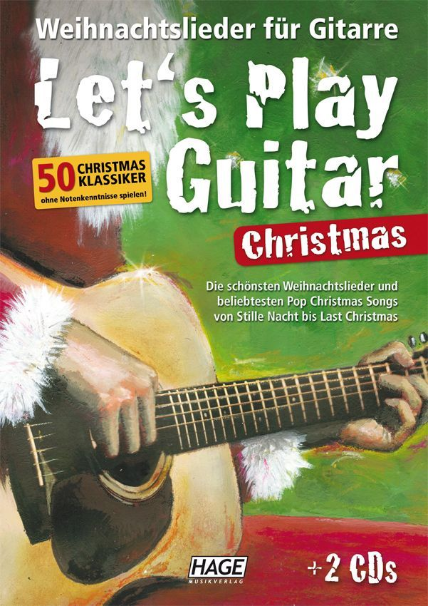 Noten Let´s play guitar Christmas incl. 2 CDs HAGE 3799