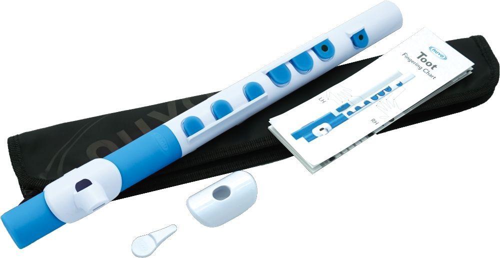 Kinder-Querflöte NUVO TOOT 2.0 weiß-blau, für Kinder ab 4 Jahren