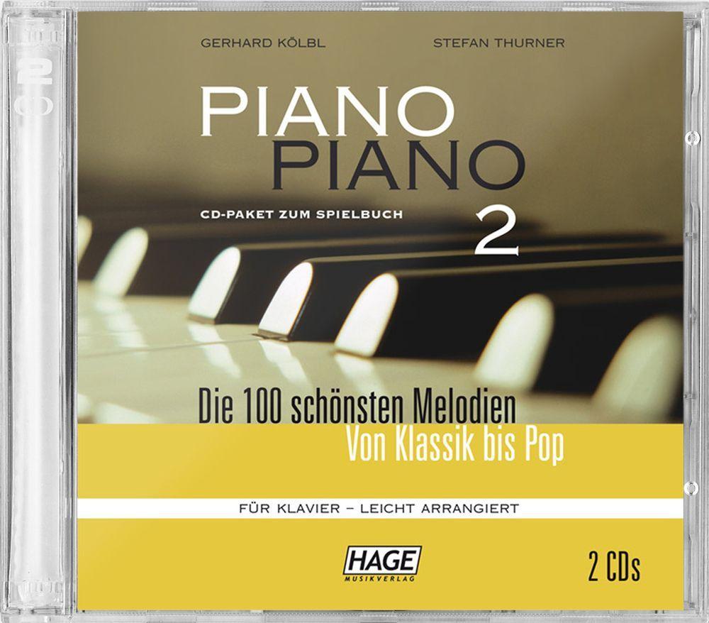 CD Piano Piano 2 - leicht - 2 Cds mittelschwer HAGE -CD3733