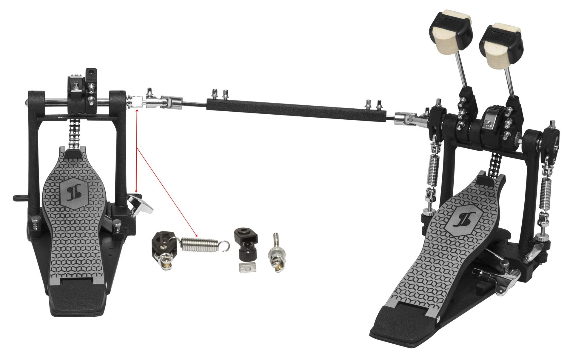 Stagg Doppel Bassdrum Pedal, 52 Serie, PPD-52