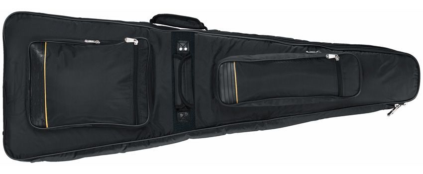 Rockbag 20618 Gigbag für E-Gitarre V-Form, E-Gitarrentasche mit 35mm Polsterung