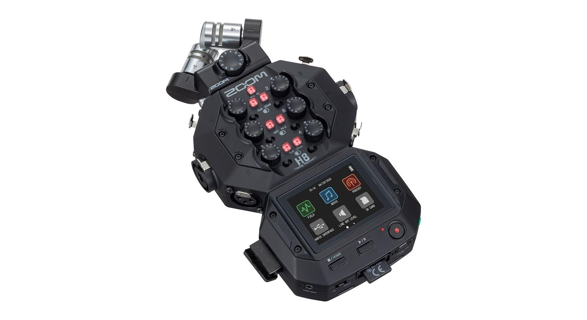 Zoom H8 tragbarer 12 Spur Audio Recorder Handy Recorder