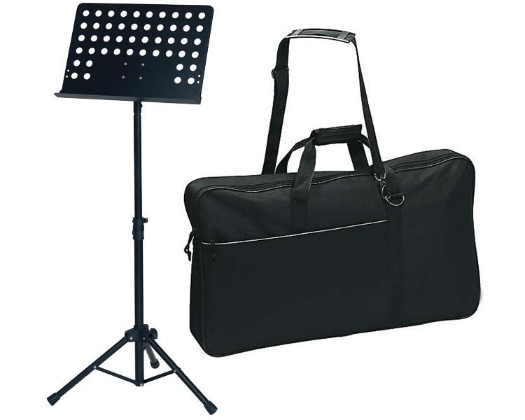 Markstein Orchester Notenpult-Set, Lochblech MLO + Tragetasche, Schultergurt