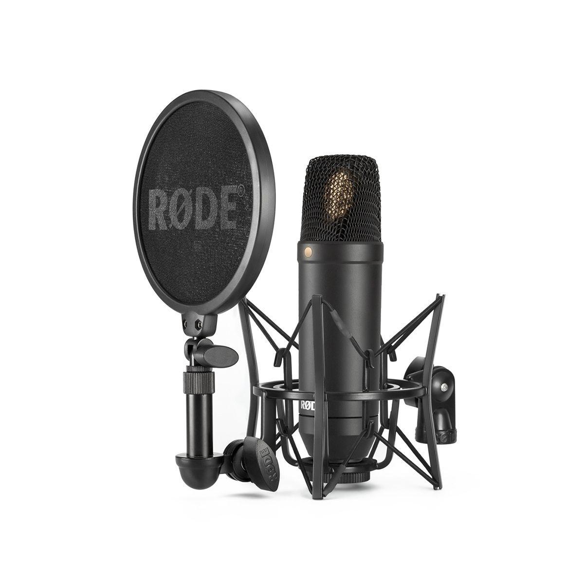 RODE NT1 Studio-Mikrofon-Set inkl. Deluxe-Spinne SM6 mit Popschutz