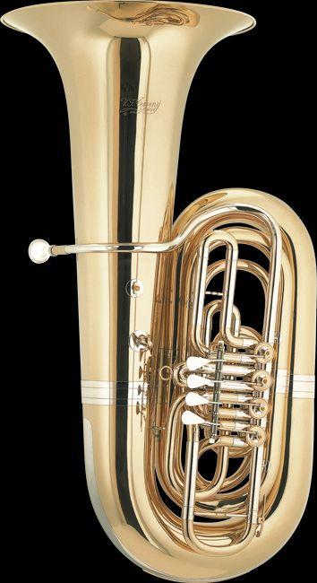 Cerveny CVBB696-4 B-Tuba, Messing, Bohrung 21,20mm, 4 Ventile, Etui +  Zubehör