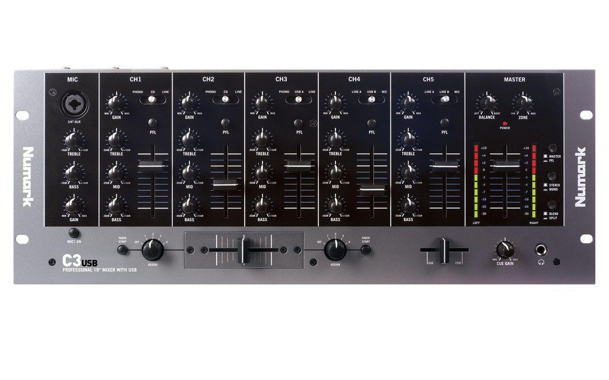 "Numark C3 USB 19"" DJ-Mixer"