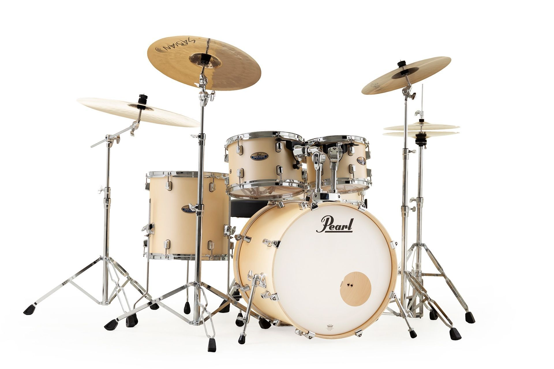 Pearl Decade Maple Drumset DMP925S#215 Satin Gold Meringue