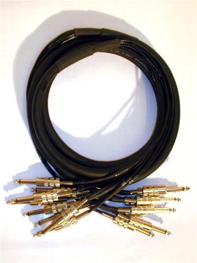 Multicore, 8x 6,3mm Klinkenstecker  8x 6,3mm Klinkenstecker, 3 Meter