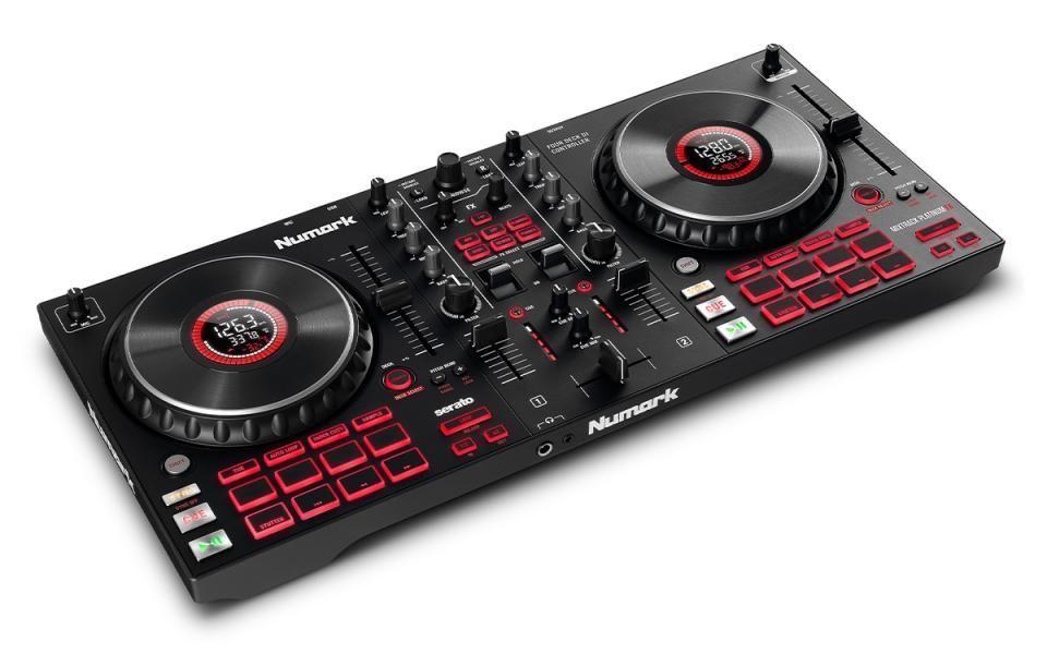 Numark Mixtrack Platinum FX 4-Deck DJ-Controller mit Jogwheel-Display und Effekt