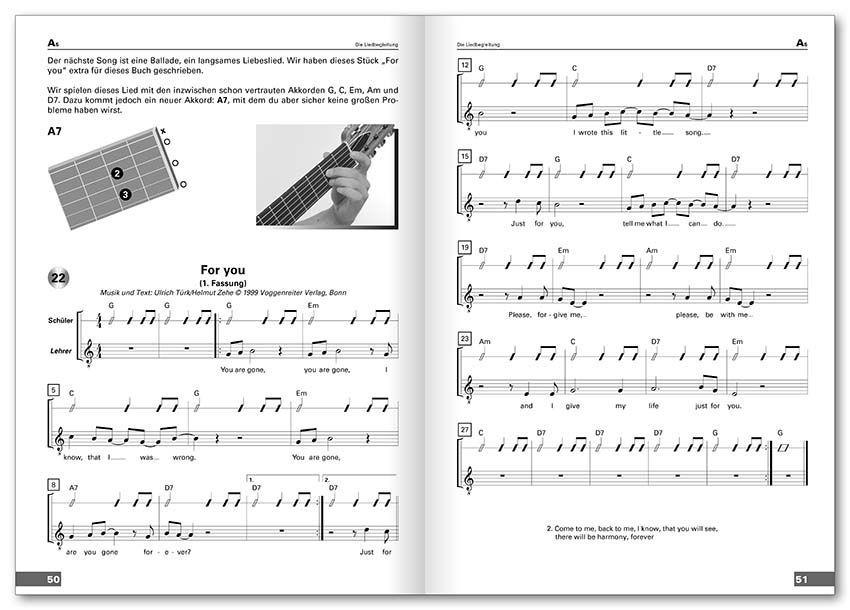 Schule Acoustic Guitar Türk  Zehe Voggenreiter incl. CD 0246-3